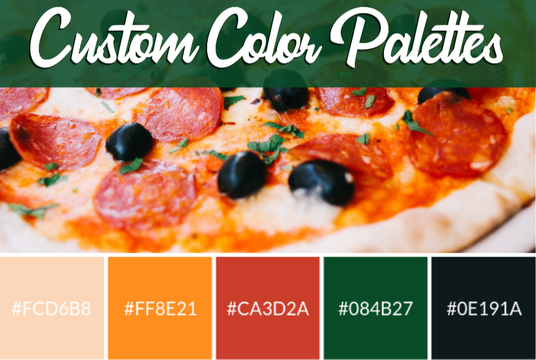I will create a custom color palette for your brand