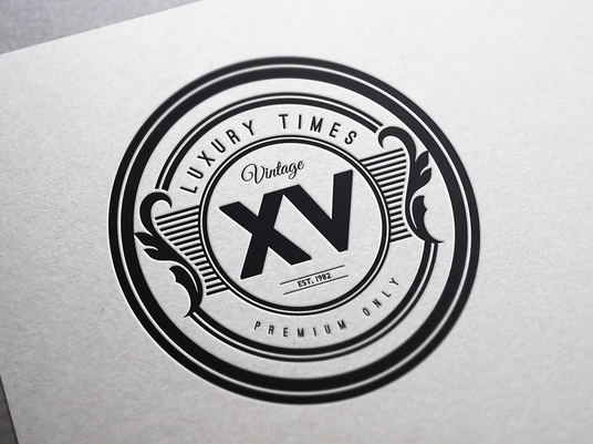 I will design vintage logo