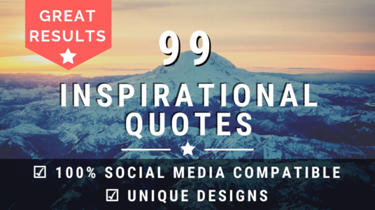I will Create 99 Inspirational Image Quotes With Logo In 24h