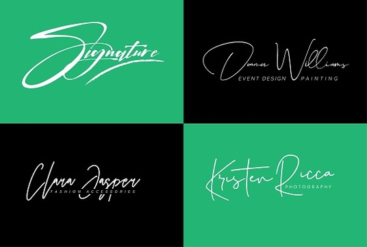 I will Design Cool Signature Logo