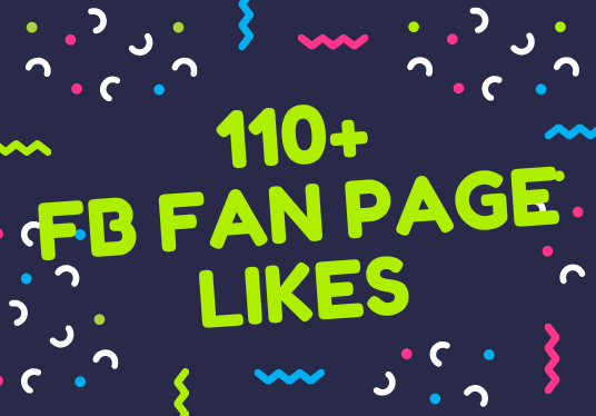 I will add 110+ Facebook fan page likes
