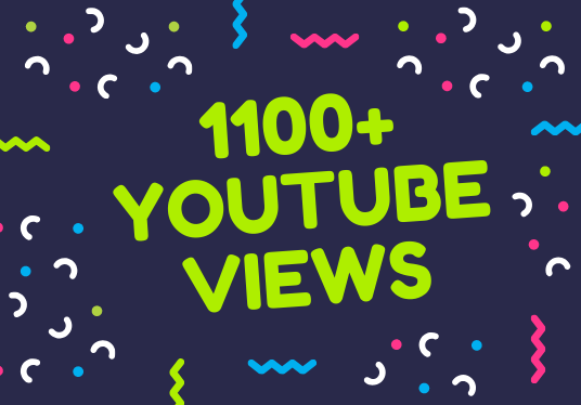 I will add 1100+ Safe YouTube views