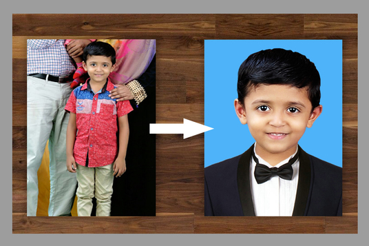 I will Remove background,Retouch and convert passport size photo