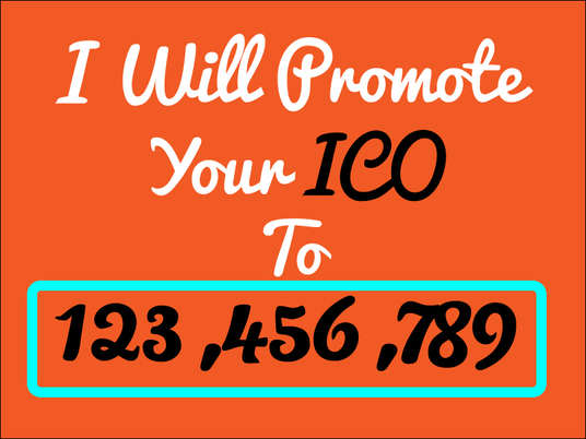 I will do Ico promotion  to 4-5 million targeted, real, active, and interested audience
