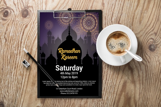I will Create Professional Ramadan Flyer and Poster in 24 hours