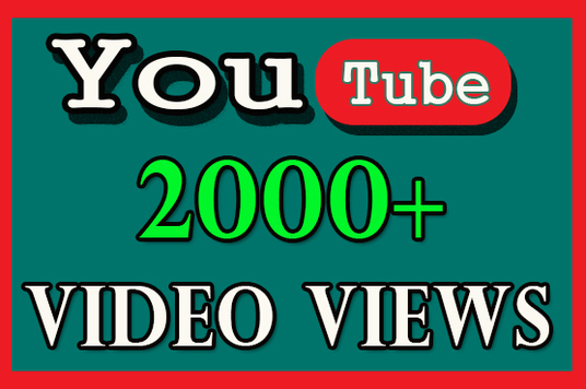 I will Provide 2000+ Youtube video views