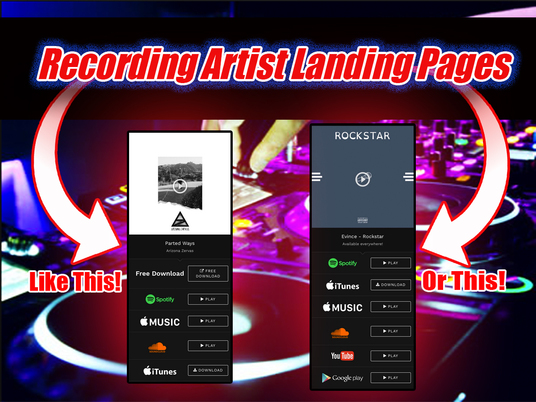 I will Create Landing Page for Your hot New Single or Album