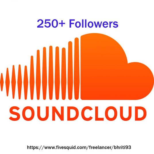 I will give you 250+ non drop Sound-cloud followers