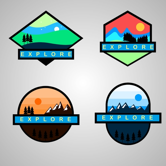 I will create professional badge logo
