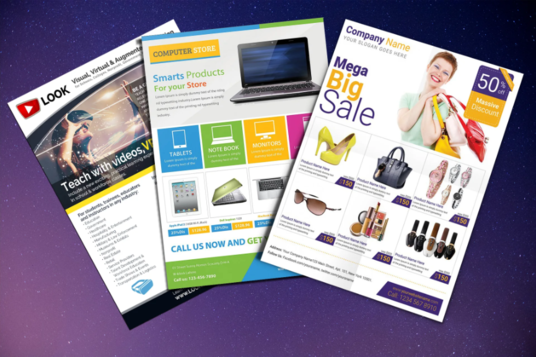 I will Design Product Catalog, Promotional Flyer, Sell Sheet
