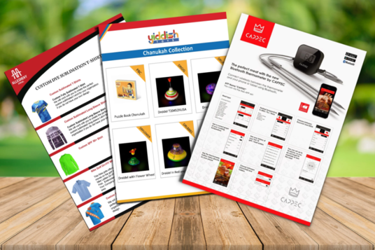 Design Product Catalog, Promotional Flyer, Sell Sheet