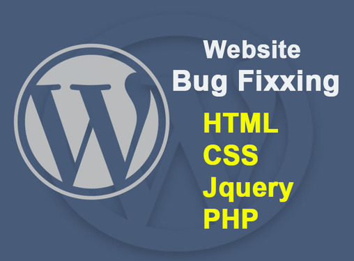fix HTML, CSS, Jquery, PHP and WordPress issues