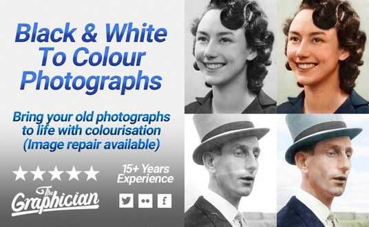 I will colourise your black and white photograph