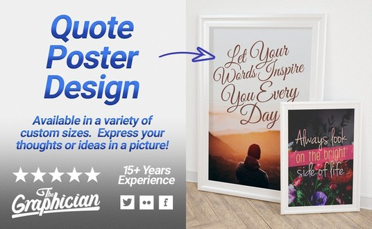 I will design you a custom quote poster