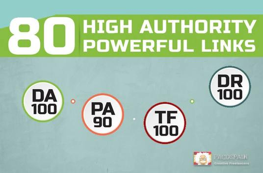 give you 80 HIGH AUTHORITY Powerful Links