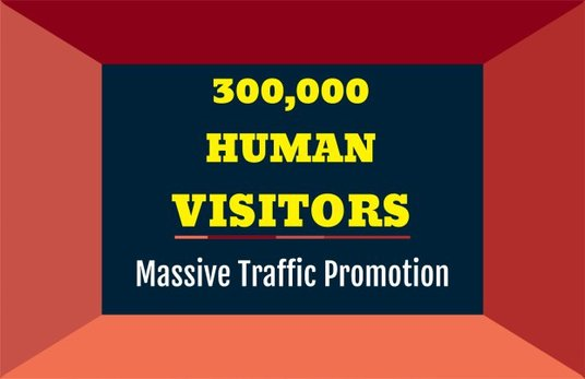 I will Bring 300,000 Human Visitors To Your Website