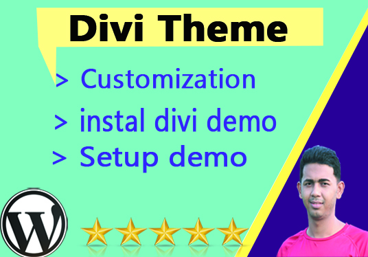do Divi theme installation and customization in short time
