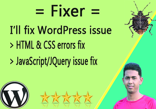 I will fix all WordPress and CSS issues in short time
