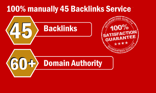 I will Provide 45 Backlinks from High DA-60+ Domains-Skyrocket your Google RANK