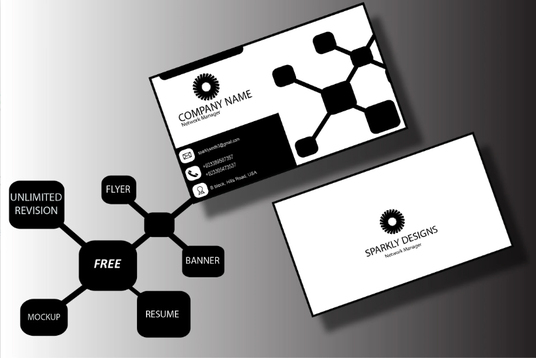 I will design professional business cards with free mock up