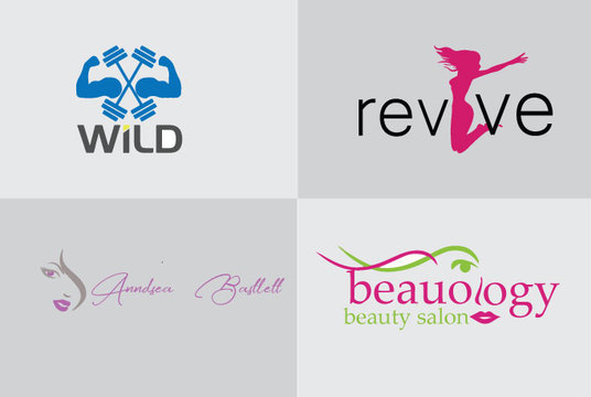 I will Design An Elegant Salon, Boutique And Hair Extensions Logo