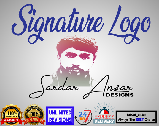 I will design Unique and Attractive Signature Logo