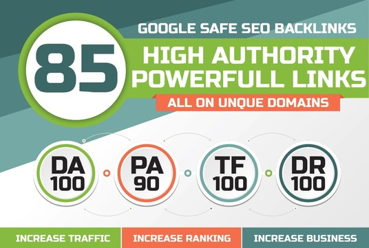 I will Do 85 Unique Domain SEO Backlinks On Tf100 Da100 Sites