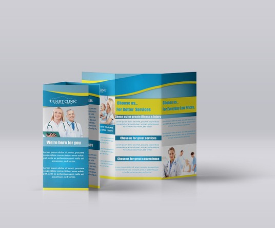 I will create professional bifold, trifold Brochure Design