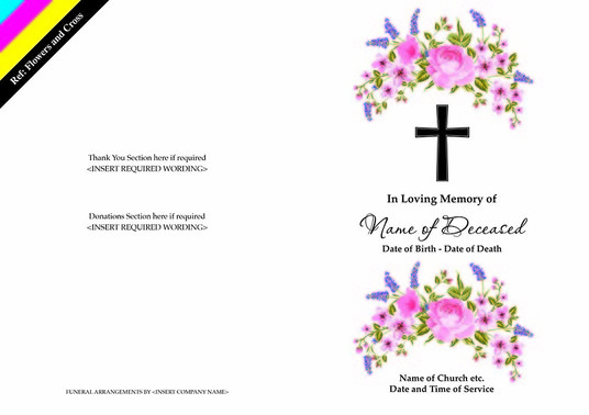 I will design your Orders of Service for the funeral of a loved one
