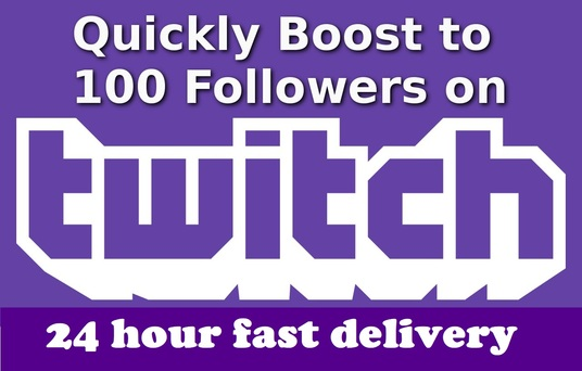 I will give 100 real twitch followers