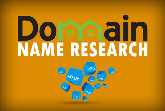 research a domain name for you