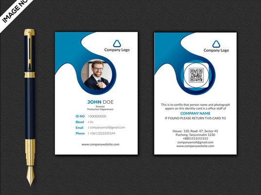 I will design professional id card within 24hours