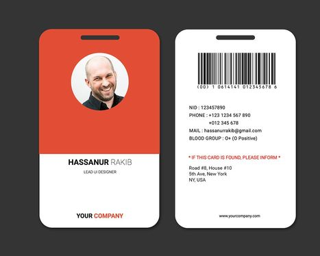 design professional id card within 24hours