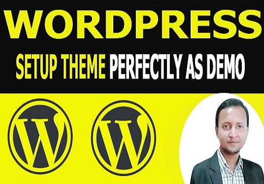 I will install wordpress theme and demo