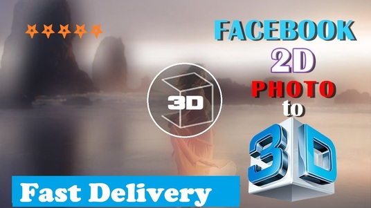 I will create 3D photos for facebook upload