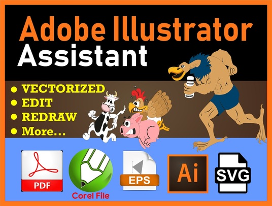 I will Do Any Adobe Illustrator Job | Illustrator Work Professionally