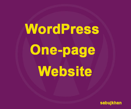I will Design WordPress One-page Design
