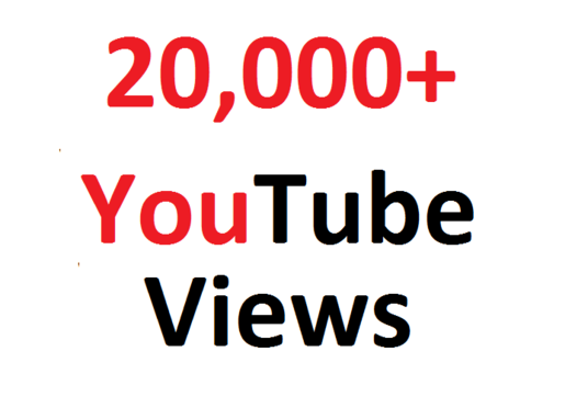 I will provide 20,000 youtube video views