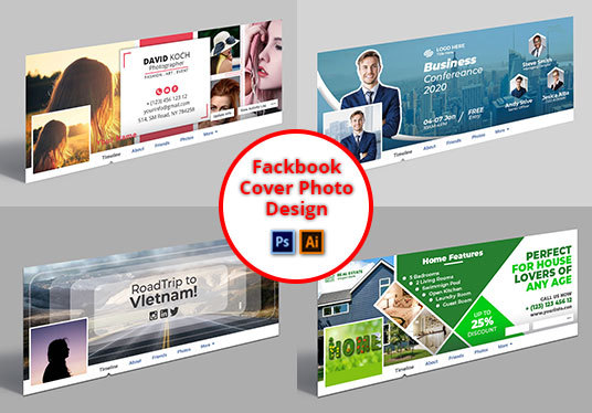 I will Do Professional And Modern Facebook Cover Photo Banner Design