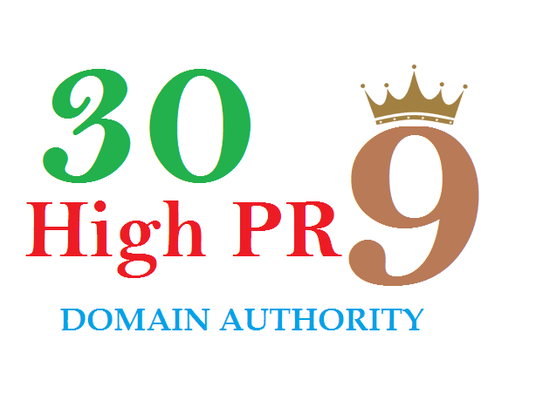 I will manually do 30 Pr9 High Quality SEO Domain Authority permanent backlinks