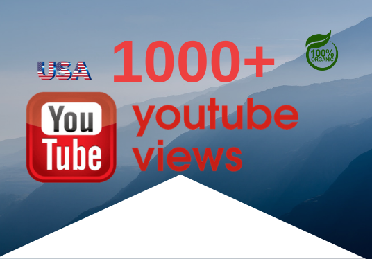 I will give you 1000+ YouTube Views