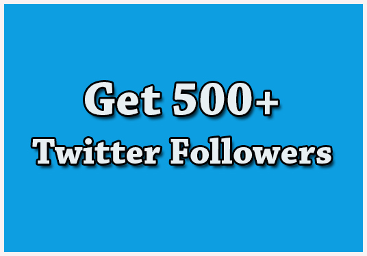 I will Give You 500+ Active twitter Followers
