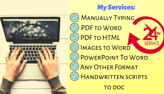 I will Do Fast Typing Of 15 Pages within 24 Hrs Or Less