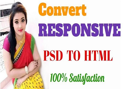 I will convert psd to html, sketch to html responsive bootstrap 4