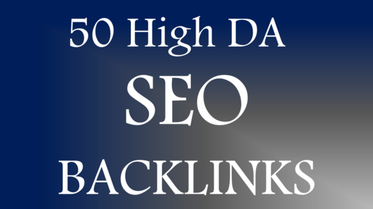 manually create 50 high DA SEO Backlinks, service for you
