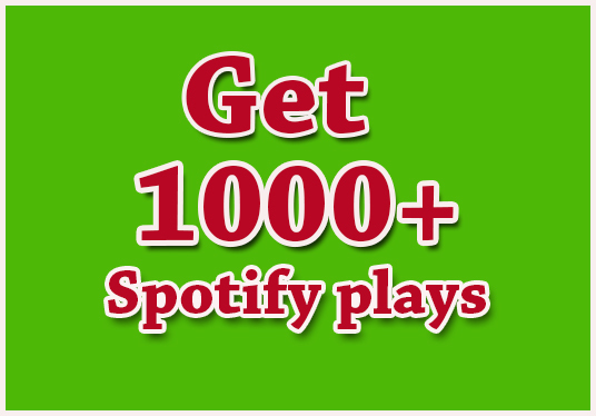 I will Give You 1000+ Spotify Plays