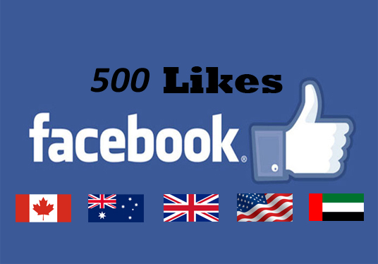 I will provide 500 facebook likes from Real facebook user