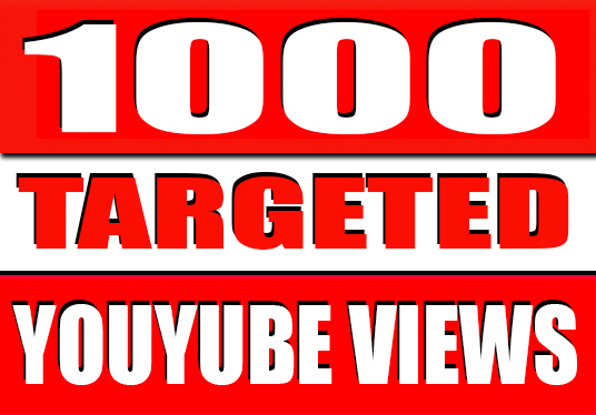 I will Provide 1000 Targeted YouTube Views