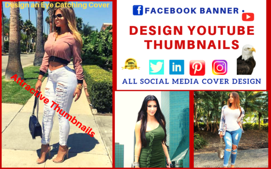 I will Design and Create Facebook Cover, Youtube Thumbnail and Social Media Banner