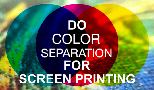 I will do professional color separation for t shirt screen printing